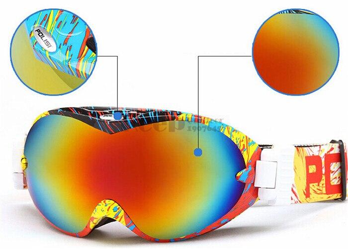 Polisi gafas de esquí snowboard al aire libre gafas hombres y mujeres gafas de a