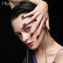 MISSNORA 6ml Nail Polish Black Bright Coat gel polish semi permanente Nail Art Design UV/LED Gel Lacquer Soak Off Nail Varnish