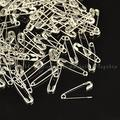 1000pcs Iron Safety Pins for Brooch Making,  Platinum,  20x5x1.5mm