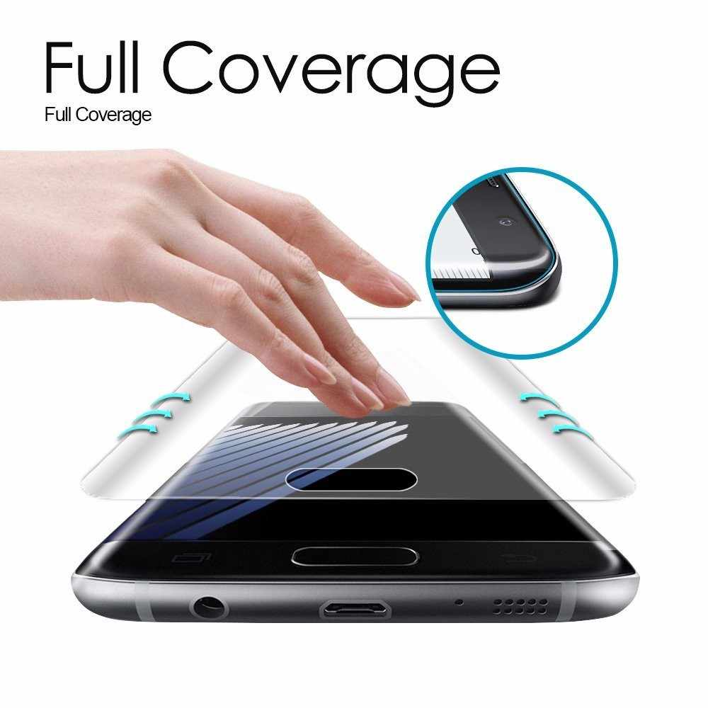 For Samsung Galaxy S10 Plus S10e S9+ S7 Edge S6 S8 Note 8 9 3D Curved Screen Protector Pet Film Full Cover (Not Tempered Glass)