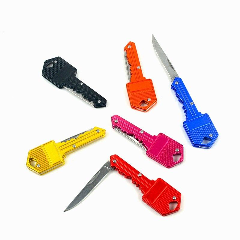1 pcs Mini Pocket Folding Knife Key Keychain Camping ...