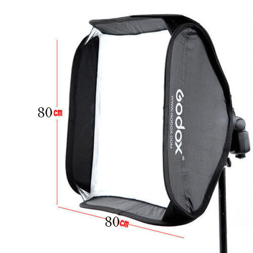 Professionnel Godox 80 cm * 80 cm Réglable flash softbox pour flash speedlite Studio tir sans Support