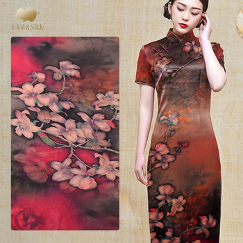 140cm classical silk fabric 19mm silk pearl satin fabric anti-wrinkle cheongsam dress chinese silk fabric wholesale silk cloth