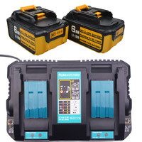 Светодиодный 18 В 6000 мАч литиевая батарея Замена для Makita BL1860 Мощность инструмент батареи BL1815 BL1830 BL1835 LXT 400 с двойной зарядное устройство
