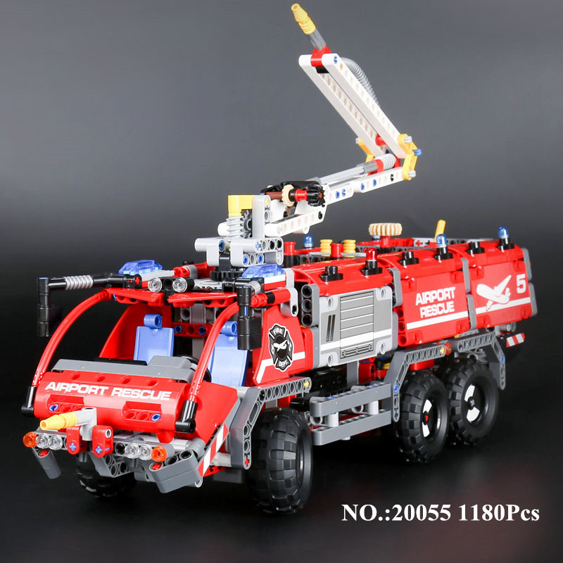 H&HXY IN STOCK 20055 Genuine Mechanical Series The Rescue Vehicle Set Children Educational Building Blocks Brick lepin Toys Gift the rescue