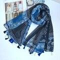 Древних Плед Платки Женщины Шарфы Богемия Шарф ж/Кисти echarpes foulards femme Бесплатная Доставка