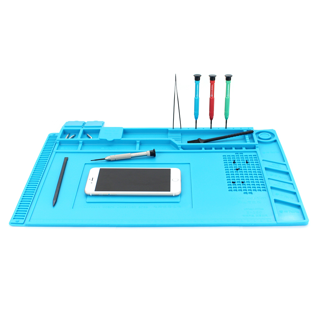 Heat-resistant Silicone Repair Mat Soldering Station Insulation Pad Anti-static Cell Phone Maintenance Platform 2 in 1 heat resistant soldering mat