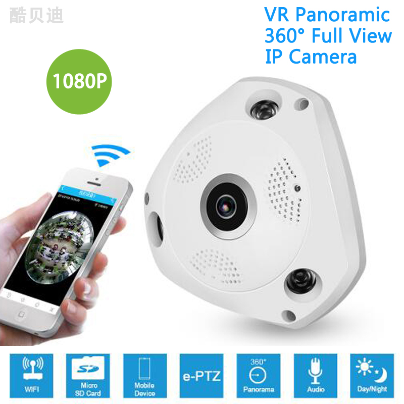 1080 p HD Wifi Fisheye Kamera 360 Grad Panorama Kamera 2,0 <font><b>MP</b></font> Wifi Kamera Nachtsicht Wireless CCTV IP Kamera baby Monitor image