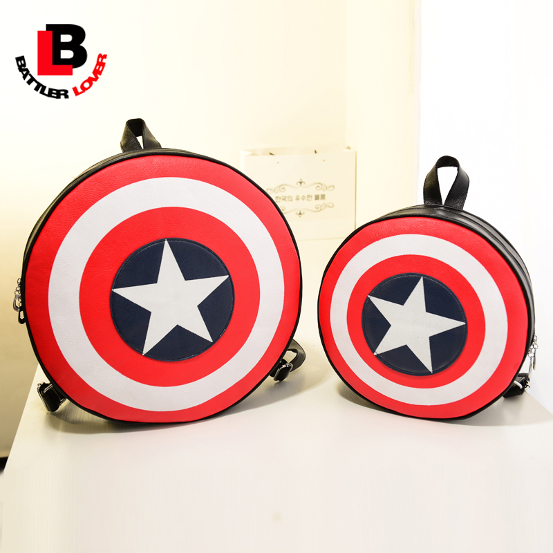 Captain America Women Men Backpack Shield Unisex School Bags For Teenage Girls And Boys Kid Children New Fashon Party Gift Funny