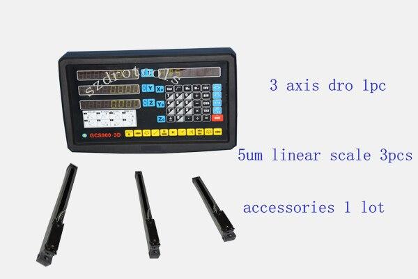 3 оси цифровой индикации токарный станок с ЧПУ мельница УЦИ линейная шкала линейный энкодер 50 1020 мм 5um оптический датчик, линейный правитель