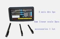 3 eixo fresadora CNC torno dro leitura digital escala linear codificador linear 5um escala do sensor óptico de 50-1020mm  régua linear