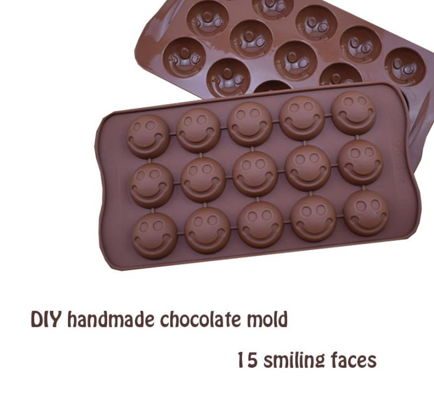 Friendly Aomily Diy Smile Chocolate Mould Silicone Soft Sugar Chocolate Bean Mold Candy Pudding Lovely Gift For Child Ice Cube Tray Mold Discounts Sale Home & Garden