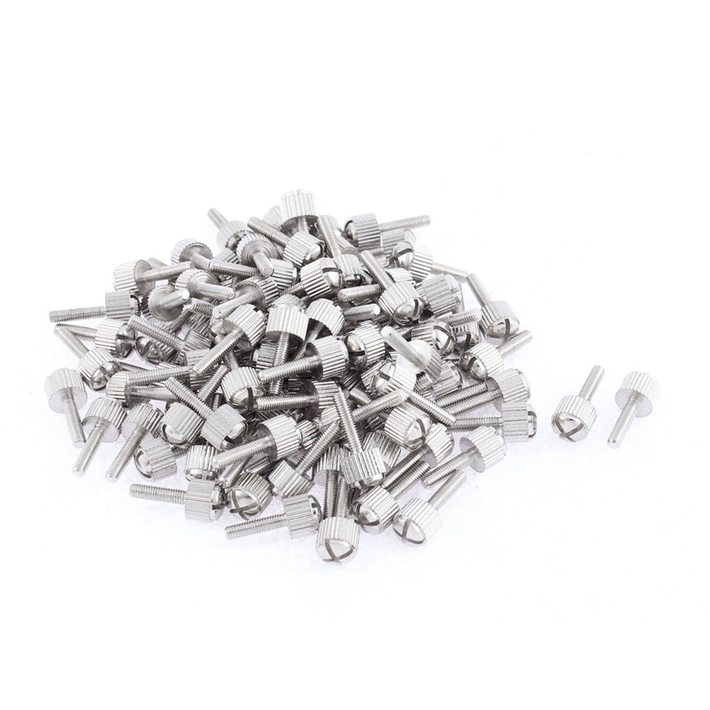 Computer PC Case M3x12mm Knurled Head Cross Thumb Screws 100pcs ...