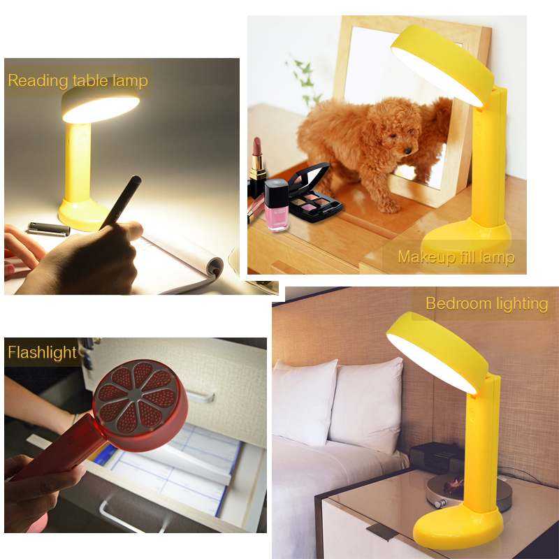 US $28 71 |Woodpow Lemon Separable Desk Lamp Eye Protection Reading  Foldable Table Lamp USB Rechargeable Dimmable Flashlight Makeup Lights-in  Desk