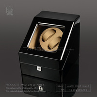 New TANG Wood Watch Winders Black Automantic Self Watch Mens Winder Watch Storage Boxes Watch Display Cases C0100 0148