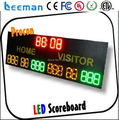 Leeman led 7-segment display of scoreboard, electronic led portable basketball hockey gymnastics cricket digital scoreboard