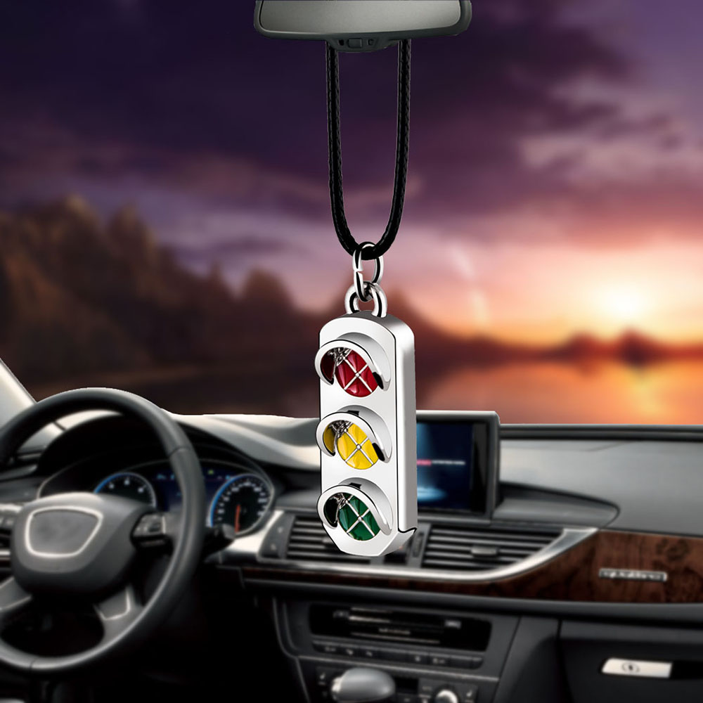 Car Pendant Ornaments Traffic Lights Fashion Charms Rearview Mirror Decoration Hanging Auto Decor Cars Accessories Styling Gifts