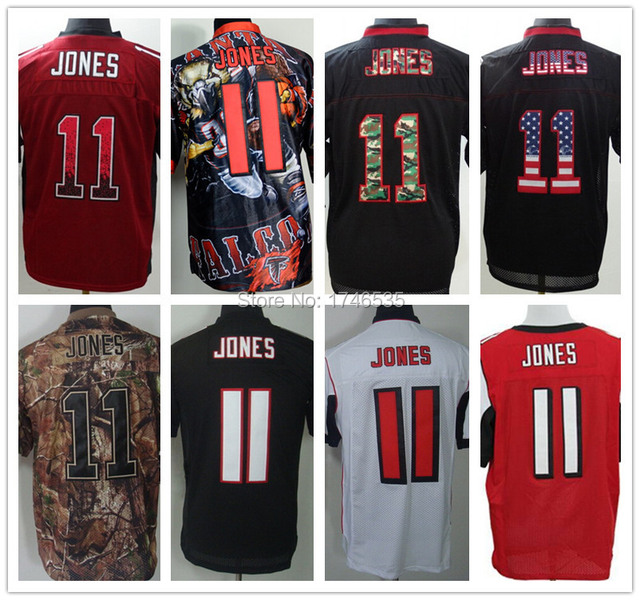 2eb4fa1c3 Best Quality Men s Elite American Football Jersey 11 Julio Jones Jersey  Black Red White Camo Stitched Fanatical Rugby Shirt