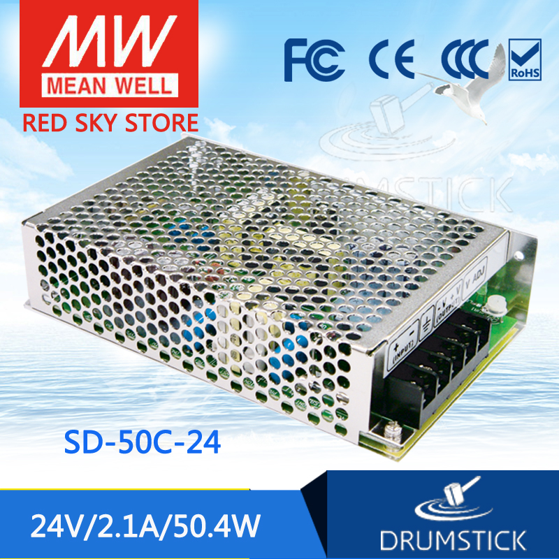 Hot! MEAN WELL SD-50C-24 24V 2.1A meanwell SD-50 24V 50.4W Single Output DC-DC Converter цена 2017