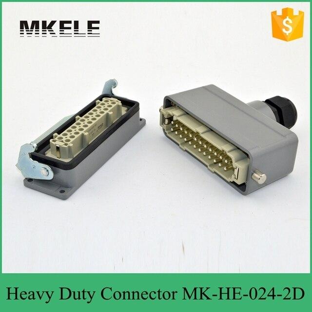 24pin 16a 400v Rectangular Plug Connector 4 Core Air Bnc