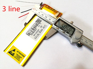 Image 4 - 3 קו 3.7 V, 4000 mAH (פולימר ליתיום יון סוללה) נטענת עבור מחשב לוח 7 אינץ 8 אינץ 9 אינץ 4050140 משלוח חינם