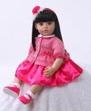 Muñeca reborn colección limitada de 55 cm con traje rosa