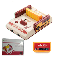 Classic red and white video games D19 game console FC classic games 500 video games with 132 in 1 game card free shipping