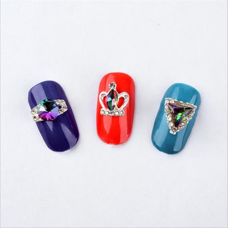 Moda Mezcla de alto grado 12 Diseño Cristal de aleación Crystal - Arte de uñas - foto 5
