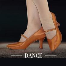 High Satin modern ballroom latin dance shoes Imported BD dance shoes BD 139  Multi-color Customized Dance shoes High Diamond Hot