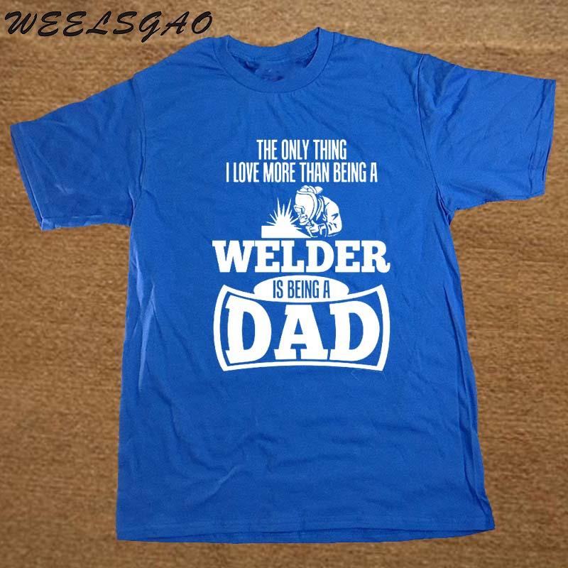 Camiseta de soldador para verano de cuello redondo
