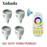 MiLight Led Lamp 5W RGBW RGBWW GU10 Led bulb +2.4G RGBW Wireless Remote Led Spotlight light Led light AC85 265V Free shipping