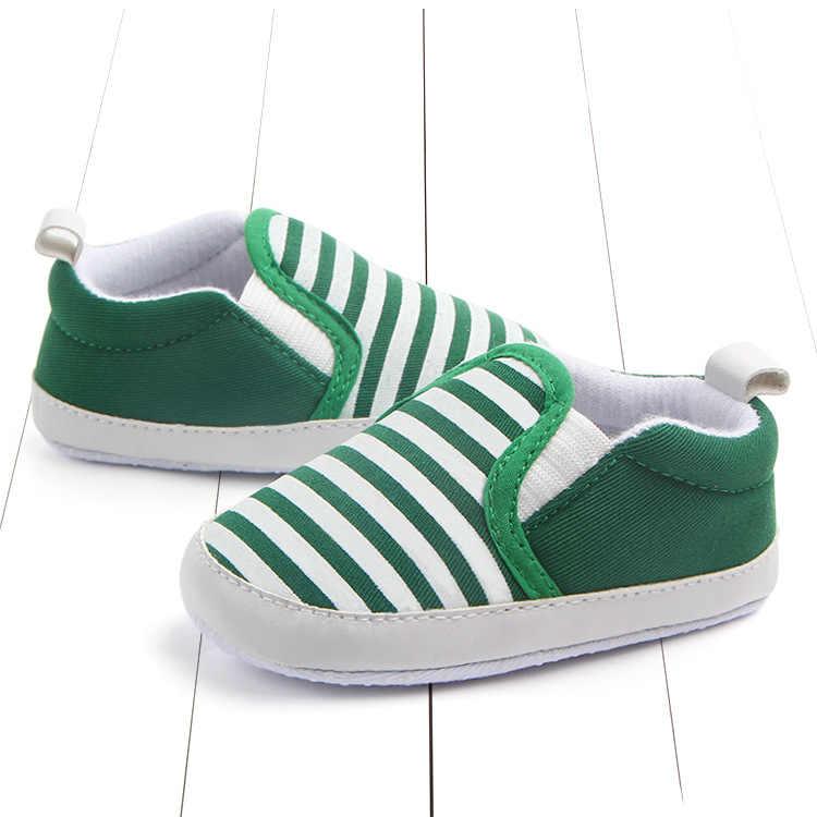 シンプルなスタイルストライプクラシック靴ローファーカジュアルソフト靴乳母車新生児幼児ベビーガールズボーイズ子供幼児最初の歩行者