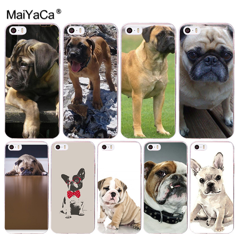 MaiYaCa Animal Dog German bulldog lovely Plastic Phone Accessories Case for Apple iPhone 8 7 6 6S Plus X 5 5S SE 5C 4 4S Cover