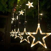 AC 220 v LED אור וילון כוכב Led אורות חג המולד אורות חג למסיבה/אורות חג המולד קישוט השנה החדש