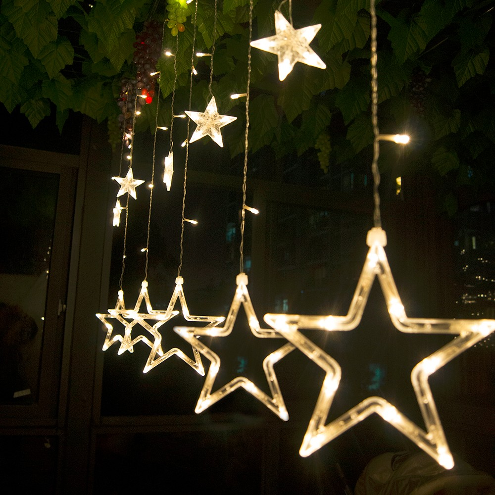 Led Christmas Lights AC 220v LED Star Curtain Light Holiday lights for Party/New year Decoration Christmas Lights