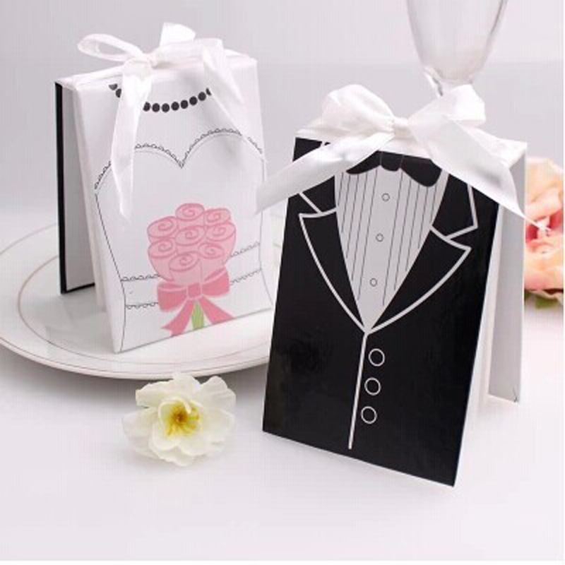 Top 100 Wedding Gifts: Free Shipping 100 Pcs/lot Wholesale Side By Side Bride And