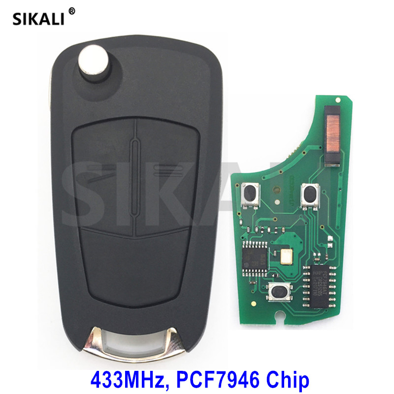 SIKALI Car Remote Vehicle Key 433MHz for Opel/Vauxhall Signium 2005 - 2007, Vectra C 2006 - 2008