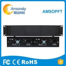 AMSOPFT display led exibição de aluguer de transceptor de fibra óptica caixa externa