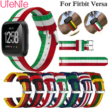 Lightweight Nylon Adjustable Replacement Band Sport Watch Strap Accessories For Fitbit Versa Top Quality Watchband Bracelet все цены