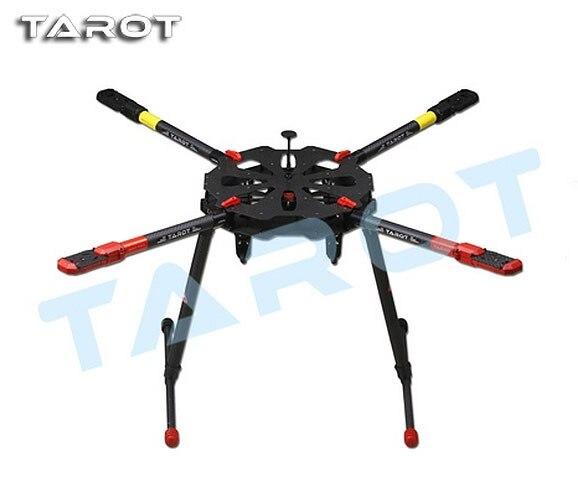 Original Tarot X4 960mm Carbon Fiber Quadcopter Umbrella Folding Arm Frame w Electronic Retractable Landing Gear