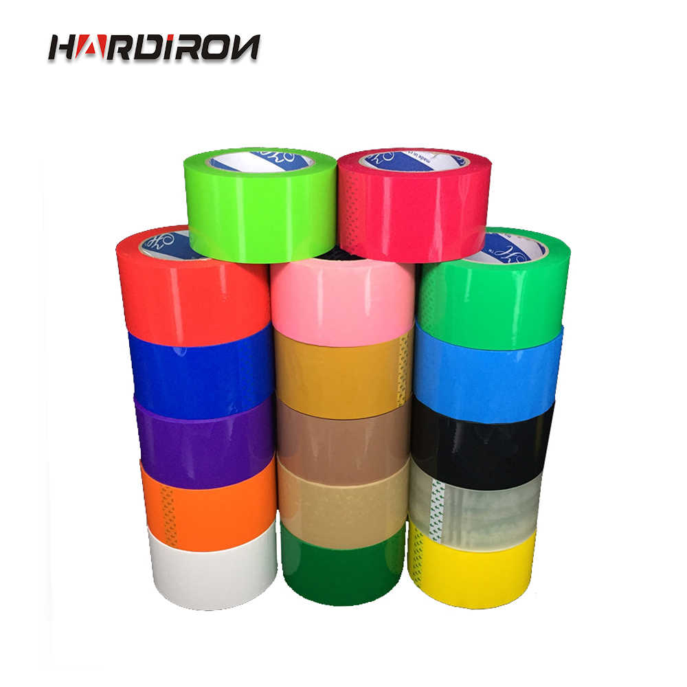 HARDIRON  1Rolls 4.5/5.5/60CM Width Color Sealing Tape Red Blue Black Pink Custom Color Printing LOGO Packaging Tape