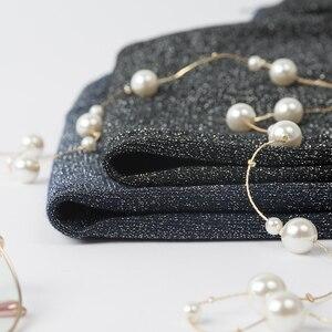 Image 4 - YISU suéter de primavera para mujer, jersey de manga corta, suéteres de Seda brillante a la moda, Tops finos de cuello redondo, suéteres de punto para mujer 2019