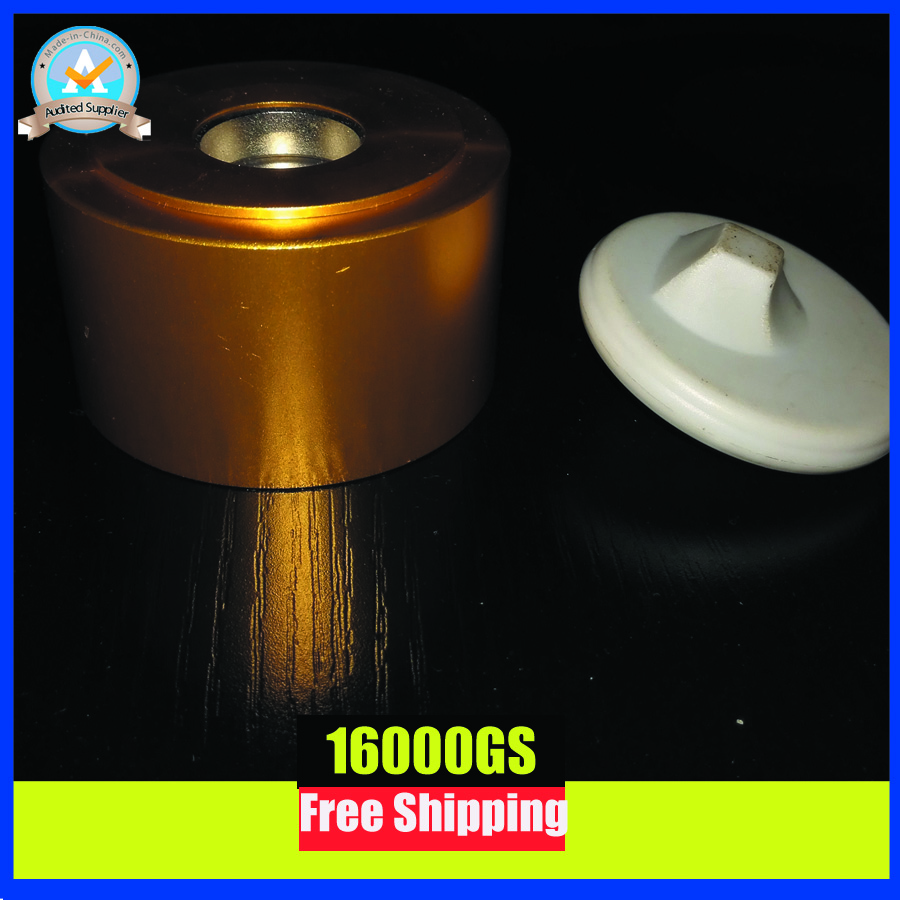16000GS detacher eas security tag detacher magnetic detacher 1 piece in gold color free shipping