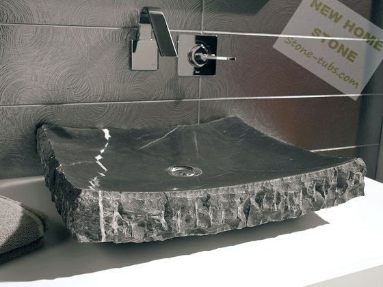 Us 465 0 Black Marble Bathroom Sink Rectangular Shape One Piece Marble Cut Out Counter Wash Basin Simple Design Luxury Sink In Bathroom Sinks From