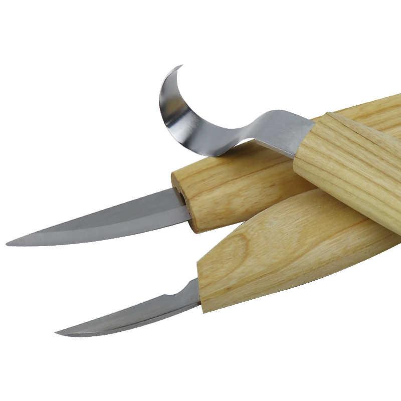 נגרות עץ גילוף ערכת סט יד גילוף אזמל סכין חדה DIY עץ לנקר אזמל נגר כלים