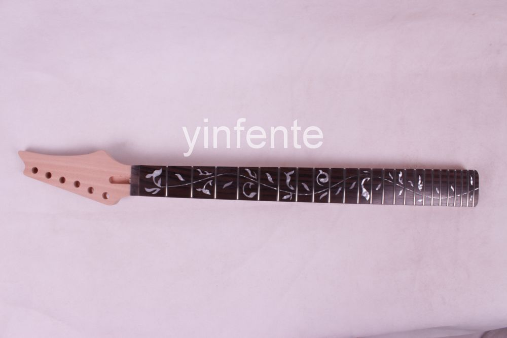 Unfinished electric guitar neck new high quality 1 pcs new unfinished electric guitar neck truss rod 24 fret 25 5 free shipping dropshipping wholesale