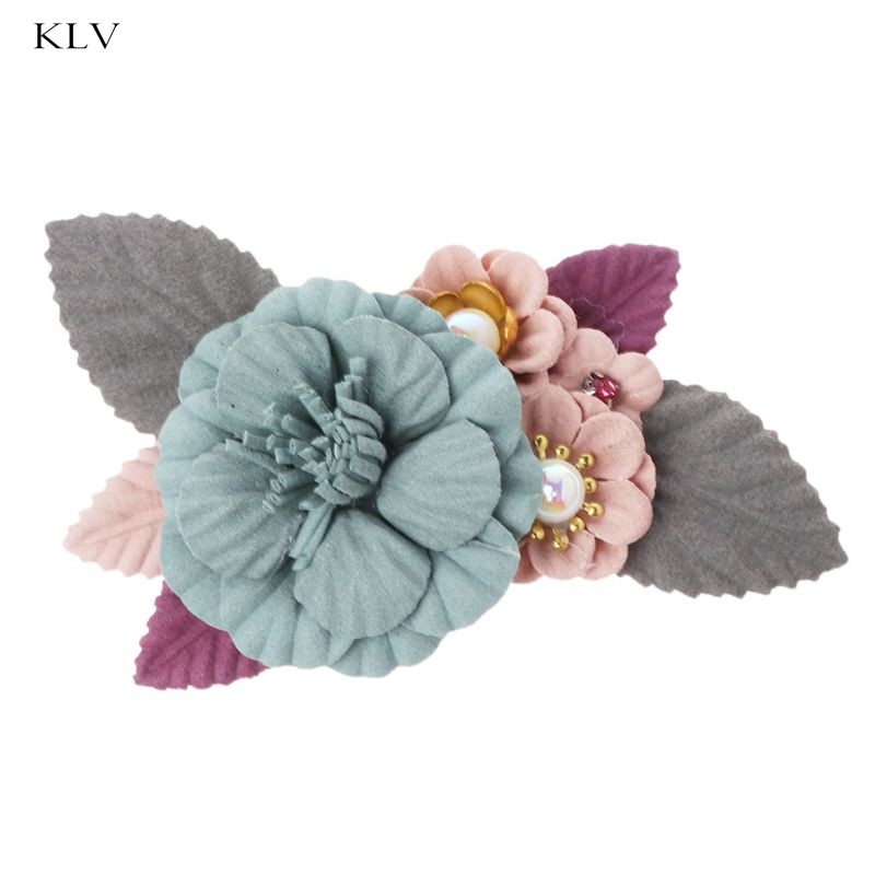 DIY Shoe Decoration Flower Handmade Pearl Shoes High Heel Women Lady Ornaments Charms Accessories Colorful Floral Fashion Elegan