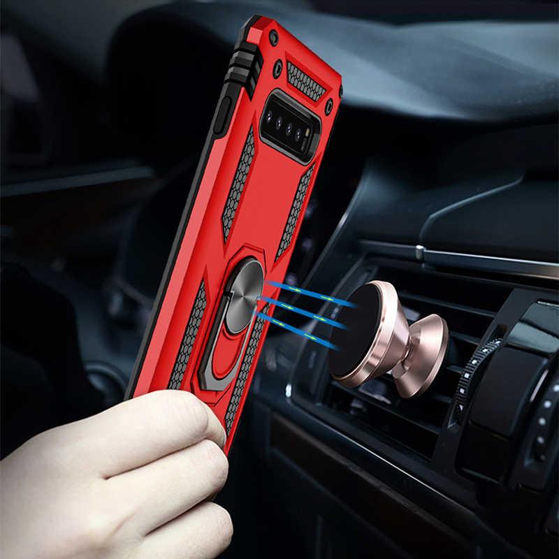 รถวงเล็บแหวนแม่เหล็กสำหรับ Samsung Galaxy S8 S9 S10 Plus Lite หมายเหตุ 9 8 A6 a7 A9 J4 J6 2018 โทรศัพท์เปลือก