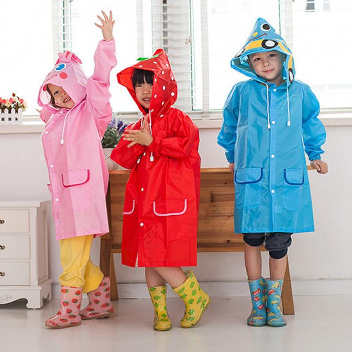 03472ae5d5e3 New Practical Jokes Toy Kids Rain Coats Unisex Animal Style Children ...