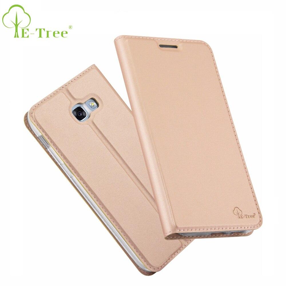 E-дерево бренд кожаный бумажник телефон чехол для Samsung Galaxy A7 2017 откидная крышка для Samsung A7 2017 охватывает сотовый телефон чехол